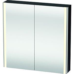 Duravit armoire miroir XSquare XS711204040 80x80x15,6cm, noir brillant