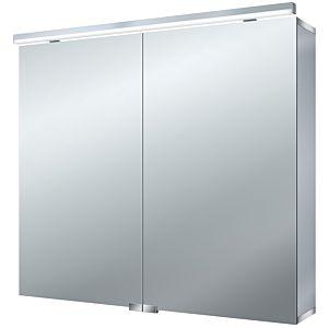 Emco Asis Pure (LED) Spiegelschrank 979705082 800 x 728 mm, aluminium, 2 Türen