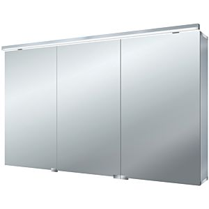 Emco Asis Pure (LED) surface-mounted illuminated mirror cabinet 979705284 1200x728mm, aluminum, 3 doors, with vanity lighting