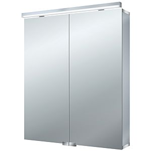 Emco Asis Flat (LED) Spiegelschrank 979705063 600x728x138mm, aluminium, 2 Türen, Aufputzmodell