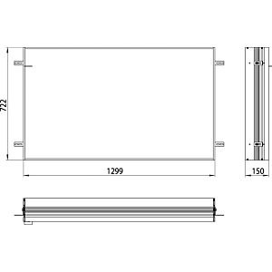 Emco Asis Prime installation frame 949700016 1300x730mm, for illuminated mirror cabinet prime2