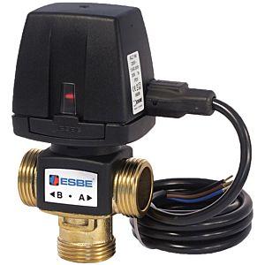 ESBE Vzd 3-way zone valve 43080300 DN 15, G 3/4, kvs 3.5, fixed Kabel