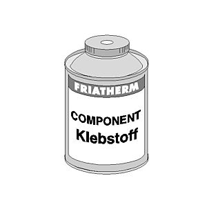 Friatec Friatherm Klebstoff Component+ 557170 120 g, Dose