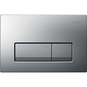 Geberit Delta flush plate 115105461 matt chrome, for dual flush, plastic