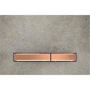 Geberit Sigma flush plate 115670JV2 Cover plate, concrete look, plate / button red gold, for dual flush