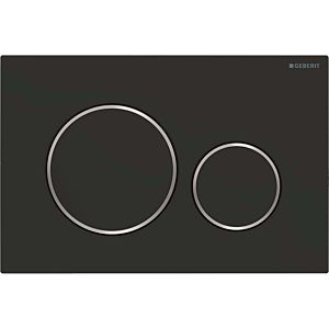 Geberit Sigma20 Betätigungsplatte 115882141 Platte und Tasten schwarz matt lackiert