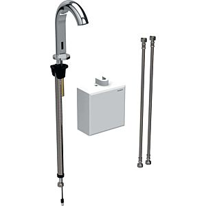 Geberit Piave infrared basin mixer 116164211 free-standing, battery operated, AP function box, high-gloss chrome-plated, with mixer