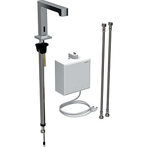 Geberit Brenta infrared basin mixer 116171211 free-standing, mains operation, AP function box, high-gloss chrome-plated, without mixer