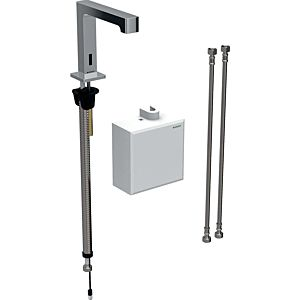 Geberit Brenta infrared basin mixer 116174211 free-standing, battery-operated, AP function box, high-gloss chrome-plated, with mixer