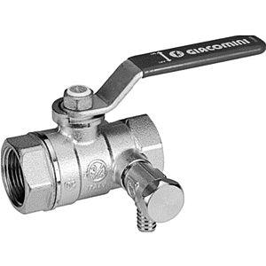 "Giacomini ball valve R250WS 250SX146 2000 2000 / 4 "", with drain, green lever handle"