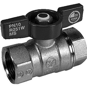 """Giacomini ball valve 2000 / 2 """"R251W heavy model with wing handle, brass chrome, PN42"""