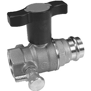 """Opal ball valve R851VY152 2000 / 2 """"x18mm, press connection, with wing handle"""