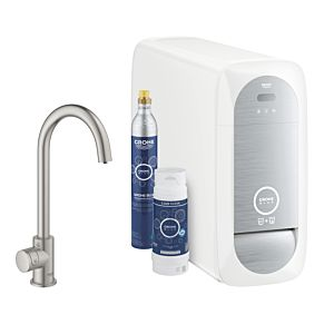 Grohe Blue Home Mono Starter Kit 31498DC1 supersteel, C-Auslauf