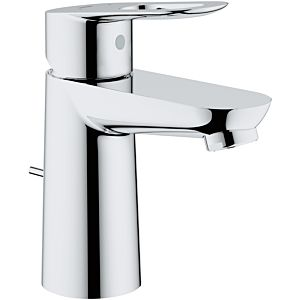 Grohe BauLoop single lever basin mixer 23803000 chrome, S-Size, with temperature limiter, plastic waste set