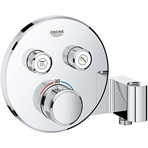 Grohe Grohtherm Smartcontrol Brausethermostat 29120000, chrom, 2 Absperrventile, Brausehalter
