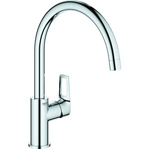 Grohe BauEdge single-lever sink mixer 31367001 chrome, high, swiveling spout