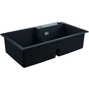 Grohe K500 Komposit-Einbauspüle 31649AP0 860x500mm, 2 Becken, granit schwarz