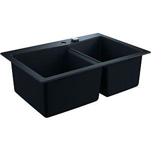 Grohe K700 Komposit-Einbauspüle 31657AP0 838x559mm, 2 Becken, granit schwarz