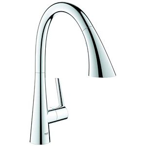 Grohe Zedra kitchen mixer 32294002 chrome, pull-out shower