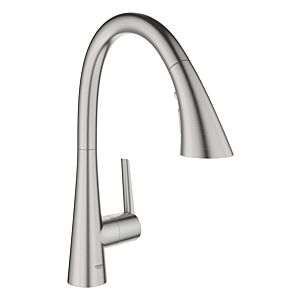 Grohe Zedra kitchen faucet 32294DC2 supersteel, pull-out shower