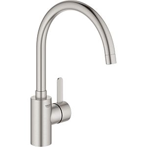 Grohe Eurosmart Cosmopolitan single-lever sink mixer 32843DC2 supersteel, swiveling pipe spout, internal water supply