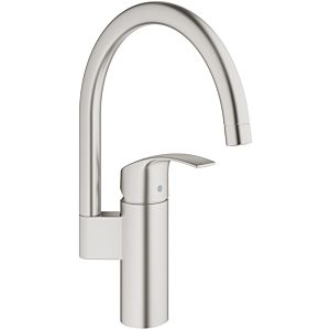 Grohe Eurosmart single-lever sink mixer 33202DC2 supersteel, high, swiveling spout