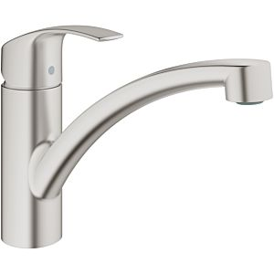 Grohe Eurosmart single-lever sink mixer 33281DC2 supersteel, flat, swiveling spout