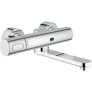 Grohe Eurosmart CE infrared washstand wall fitting 36333000 projection 255 mm, chrome, battery 6 V, with thermostat