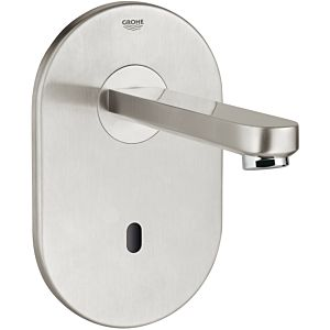 Grohe Eurosmart CE 36335SD0 spout 172mm, stainless steel, infrared washbasin wall fitting, 100-230 V.