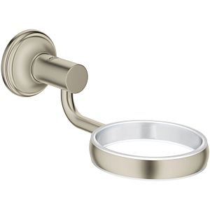 Grohe Essentials Authentic Halter 40652EN1 brushed nickel, für Glas, Seifenpender-/schale