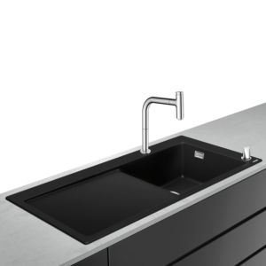 hansgrohe Select combination 43219000 1050 x 510 mm, 2000 main 2000 right, drainer, chrome
