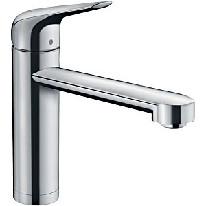 hansgrohe Focus single-lever sink mixer 71807000 swivel spout 360 °, installation in front of a window, chrome