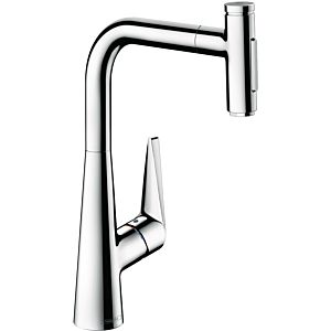 hansgrohe Talis single lever sink mixer 72823000 chrome, pull-out spray, 2jet