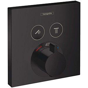 hansgrohe ShowerSelect Set de finition pour mitigeur thermostatique encastré avec 2 foncions 15763670