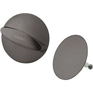 hansgrohe Flexaplus match0 58185340 chrome noir brossé, jeu de vidage / trop-plein