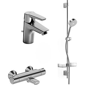 Hansa Hansapolo set de bain thermostat 46520090 chrome