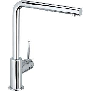Herzbach Design New Küchenarmatur 10145512201 chrom, Niederdruck, Ausladung 22 cm