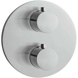 Herzbach Design iX Fertigmontageset 17503050109 UP-Brause-Thermostat rund, Edelstahl gebuerstet
