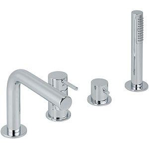 Herzbach Nano four-hole bath mixer 22120250101 tile / bath rim installation, m. Ausl., Chrome