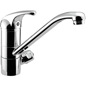 Herzbach Largo single-lever sink mixer 52.145300. 2000 chrome, swiveling spout 135 degrees