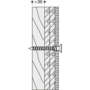 Hewi System 100 Befestigung BM12.4 Leichtbauwände mit Hinterfütterung aus Schichtholz, für Stützklappgriffe