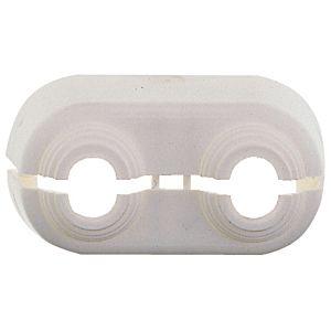 Heimeier Duolux Doppelrosette 3800-00.093 Kunststoff weiß, mittig teilbar, für Rohrverteiler