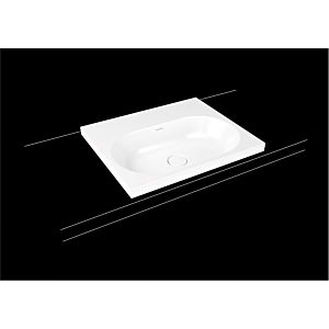 Kaldewei Centro washbasin 902806013719 3055, 60x50cm, pearl gray matt pearl effect, without overflow, 2000 tap hole