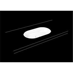 Kaldewei Centro Unterbauwaschtisch 903206003715 3059, 61x38cm, cataniagrau matt Perl-Effekt, ohne Überlauf, ohne Hahnloch