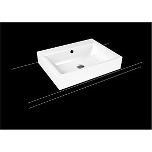 Kaldewei Puro lavabo 900706003711 3157, 60x46cm, alpin effet nacré blanc mat, avec trop - plein, sans trou de coulée