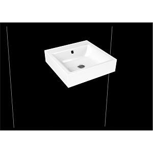 Kaldewei Puro Wandwaschtisch 901306033001 3163, 46x46x12cm, weiss Perl-Effekt, 3 Hahnlöcher