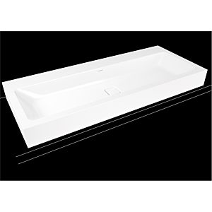 Kaldewei Cono Wand-Waschtisch 902706013001 weiss Perleffekt,3091,120 x 50 x 12 cm, 1 Hahnloch