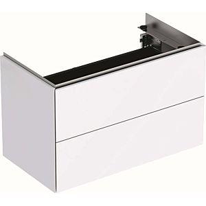 Geberit One Waschtisch-Unterschrank 500381011 2 Schubladen, 74,4x46,5x39,6cm, weiß hochglanz