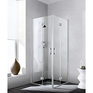 Kermi Liga Kermi Liga half swing door LI2CR093201AK 93x200cm, matt silver gloss, TSG clear, right, on shower space