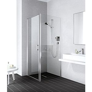 Kermi Liga side wall LITWD080201AK 80x200cm, matt silver gloss, toughened safety glass, on shower tray